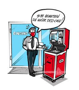 DESI-Case Comic Eingang